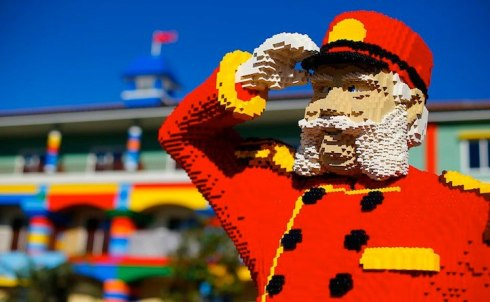 unique hotel made of lego in US entrance