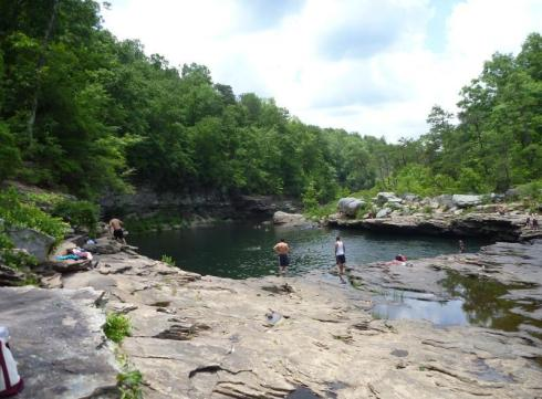 most beautiful natural pools Little River Canyon, Alabama 2
