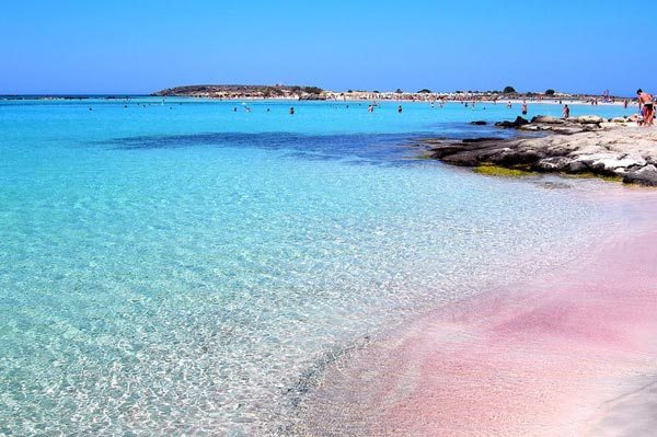 beautiful pink beaches Crete – Greece