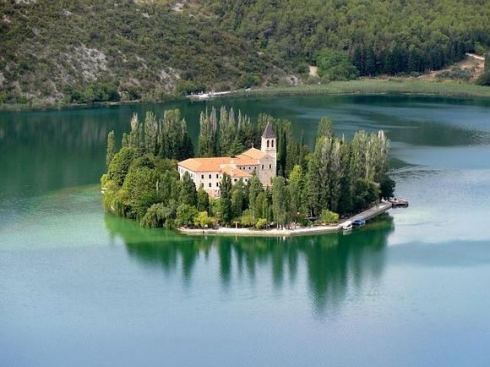 Krka National Park lies on Visovac island, Croatia 2