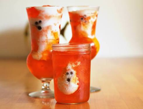 Easy and cute ghost halloween recipe