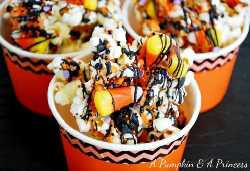 Easy and cute halloween popcorn recipe