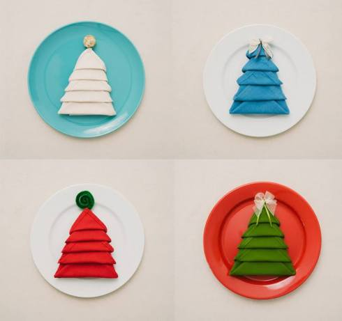 Instructions for Christmas tree table napkin