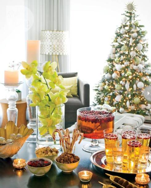 creative christmas table decor ideas  with orange color