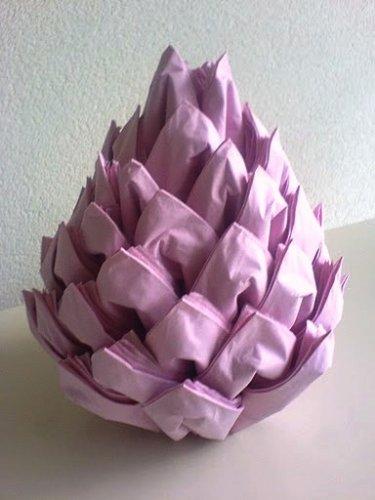 DIY Christmas Pinecone Napkin Fold