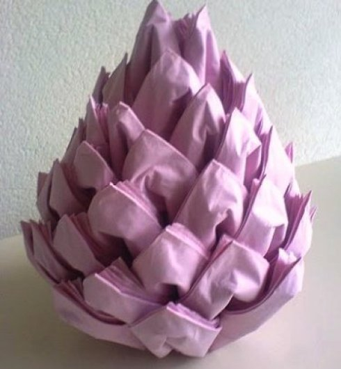 Christmas Napkin Folding.Diy Christmas Pinecone Napkin Fold Moco Choco