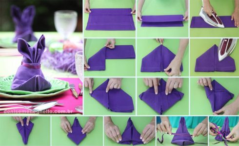 Bunny Rabbit Napkin Folding Tutorial