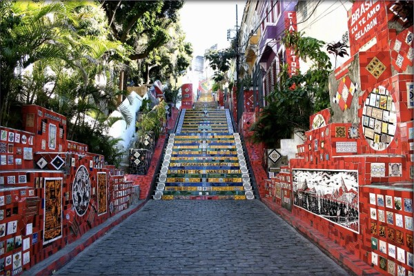 amazing stairs street art around the world, Brazil