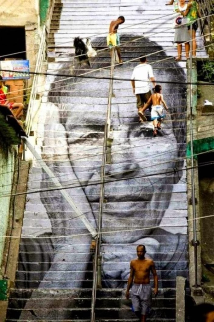 amazing stairs street art around the world, Rio de Janeiro Brazil