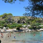Best beaches of the Greek island Rhodes, amazing view of Kallithea beach 12