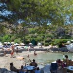 Best beaches of the Greek island Rhodes, amazing view of Kallithea beach 9