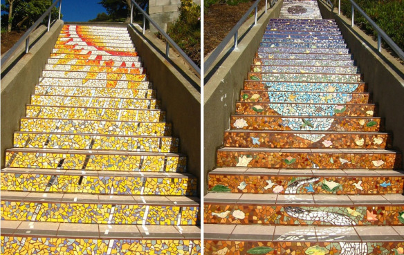 amazing stairs street art around the world, San Francisco 2