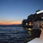 interesting things to see in Greek island Mykonos, sunset Little Venice 2