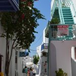interesting things to see in Greek island Mykonos, cobbled street 4