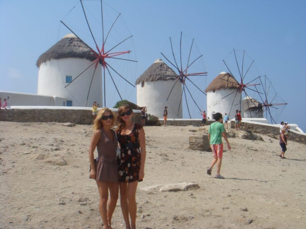 interesting things to see in Greek island Mykonos, windmills 2