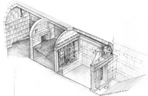 Interior of the tomb in Amphipolis, design 2