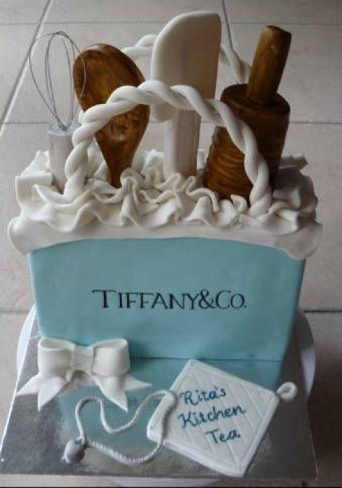 ideas for creative cake design, Tiffany & co cake