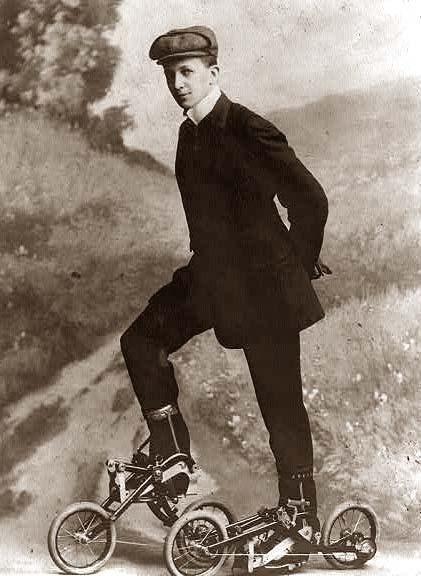 strange old timey inventions, bikes
