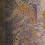 Interior of the tomb in Amphipolis, mosaic depicting God Hermes