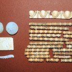 archaeological discovey in Amphipolis, coffin decorations made of bone and glass