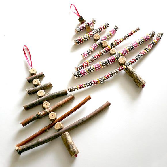 DIY unusual christmas trees, twig 2