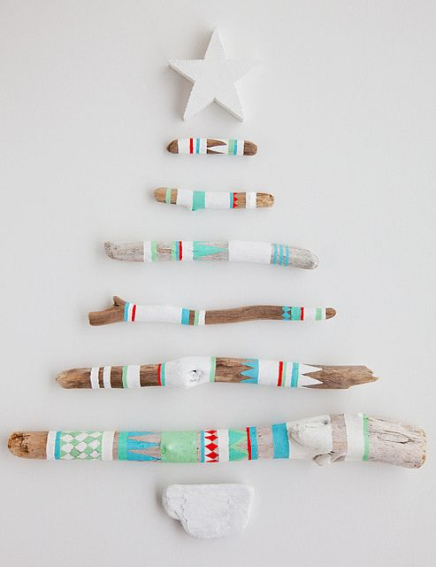 DIY unusual christmas trees, blue white colors