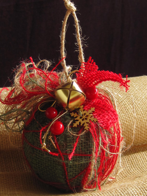 diy christmas ornament, red