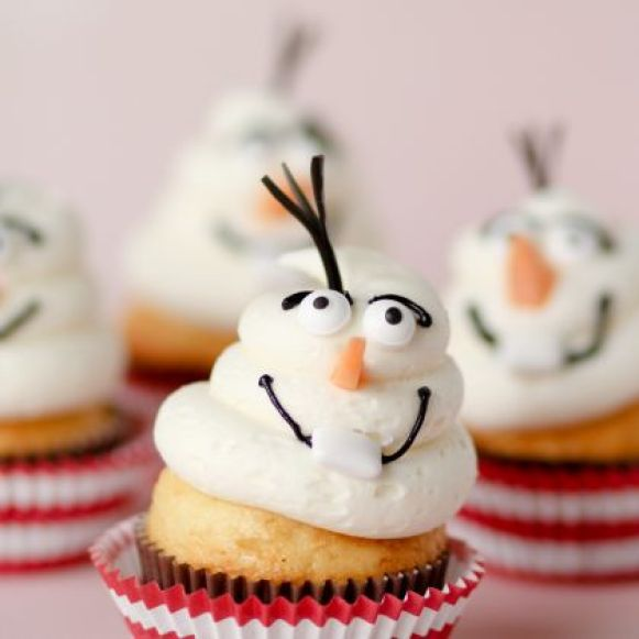 the cutest olaf cupcakes 2