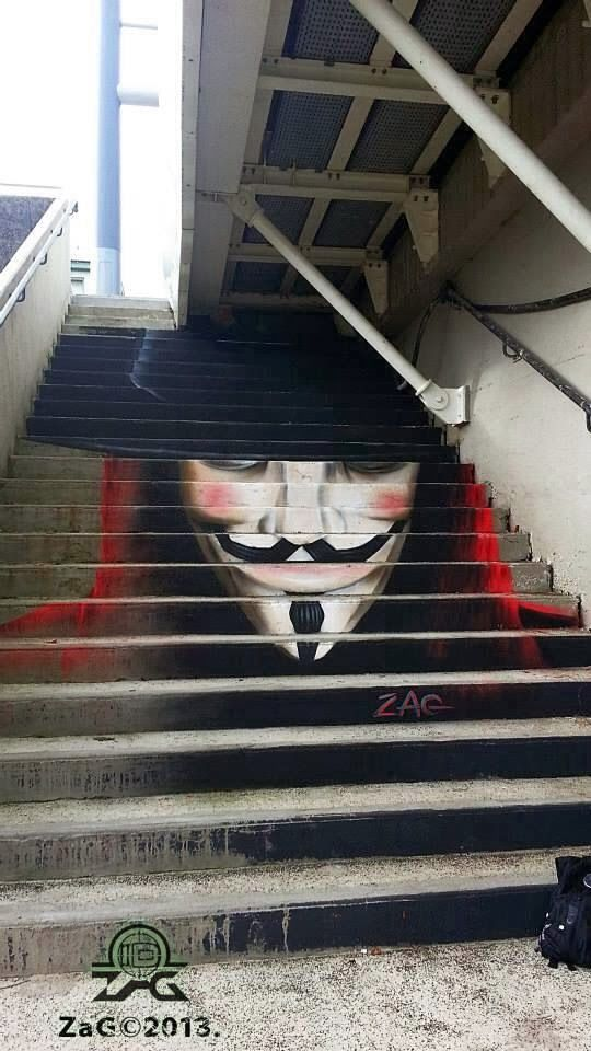 mazing stairs street art around the world, Brest France