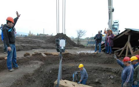 important archaeological discovery in Vergina, excavations