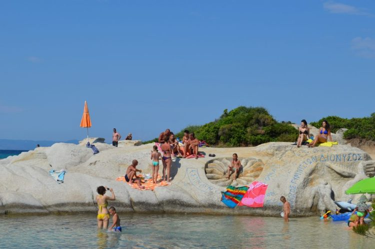 summer time in the most picturesque beach in Sithonia, Kavourotrupes 16