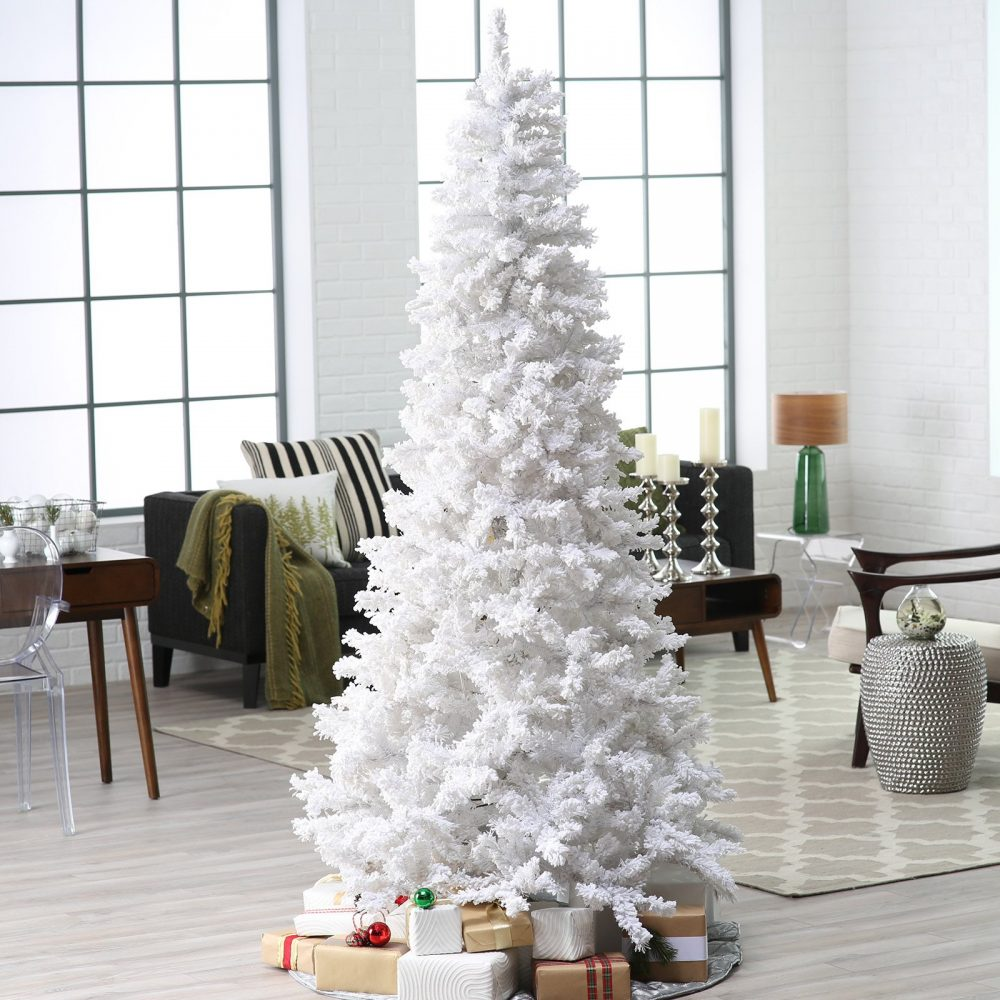 40 Awesome and Inspiring White Christmas Decorating Ideas - Moco-choco
