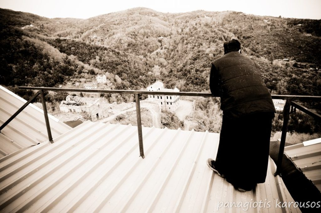 Monk at the mount Athos monastery