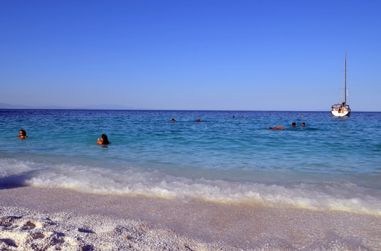 most beautiful beach in Thassos, marble beach 3