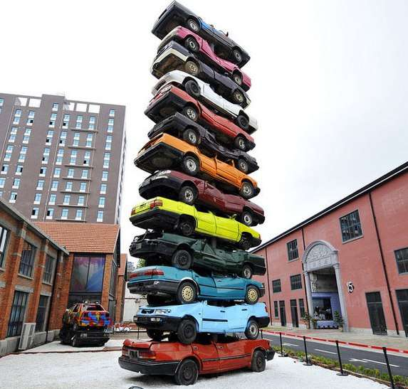 creative art in China, cars