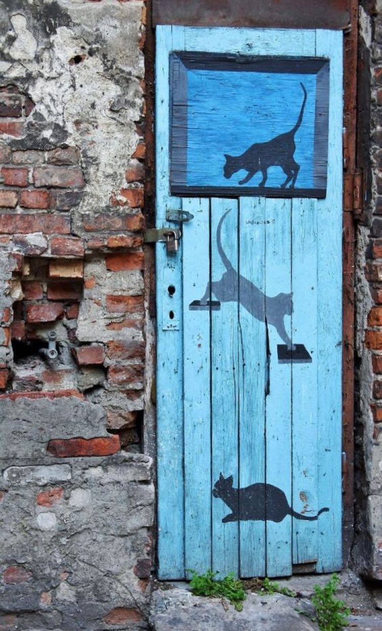 unusual and creative painted doors, Poland