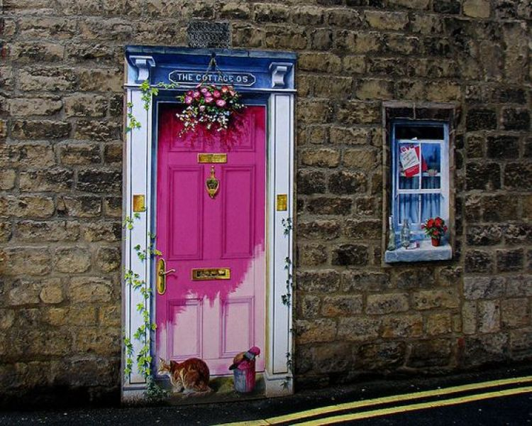 unusual and creative painted doors, Knaresborough