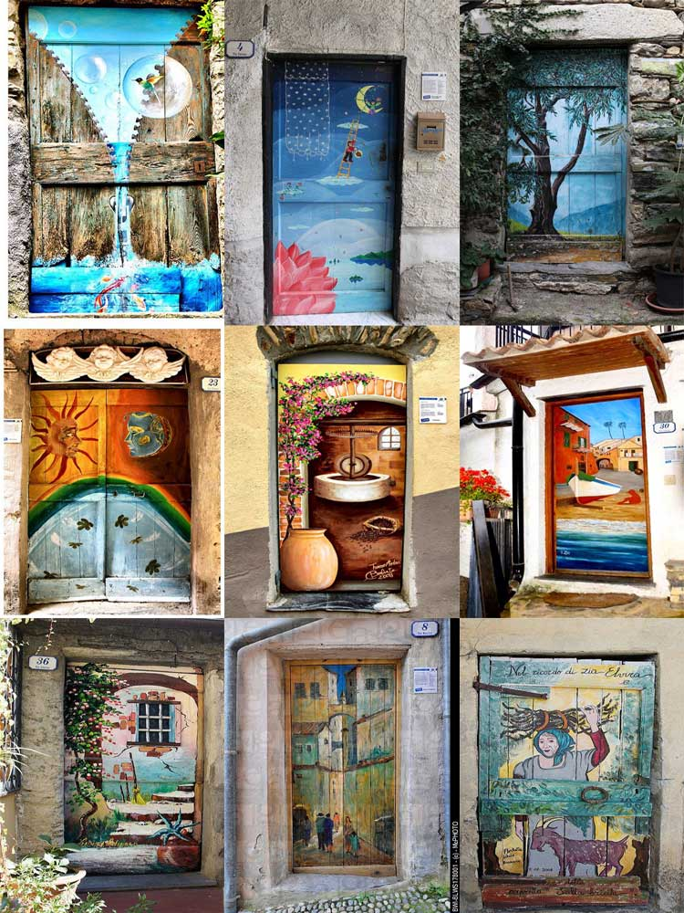 unusual and creative painted doors, Valloria