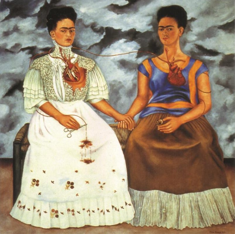 art history, most popular paintings done by famous painters, The Two Fridas