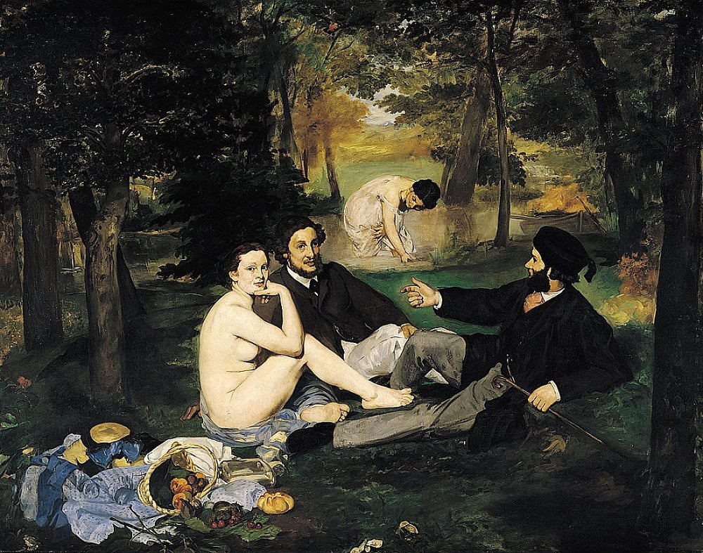 art history, most popular paintings done by famous painters, Luncheon on the Grass