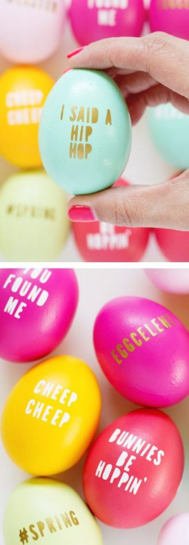 fun ways to dye easter eggs, typography