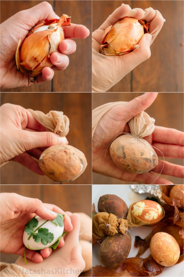 fun ways to dye easter eggs, onion