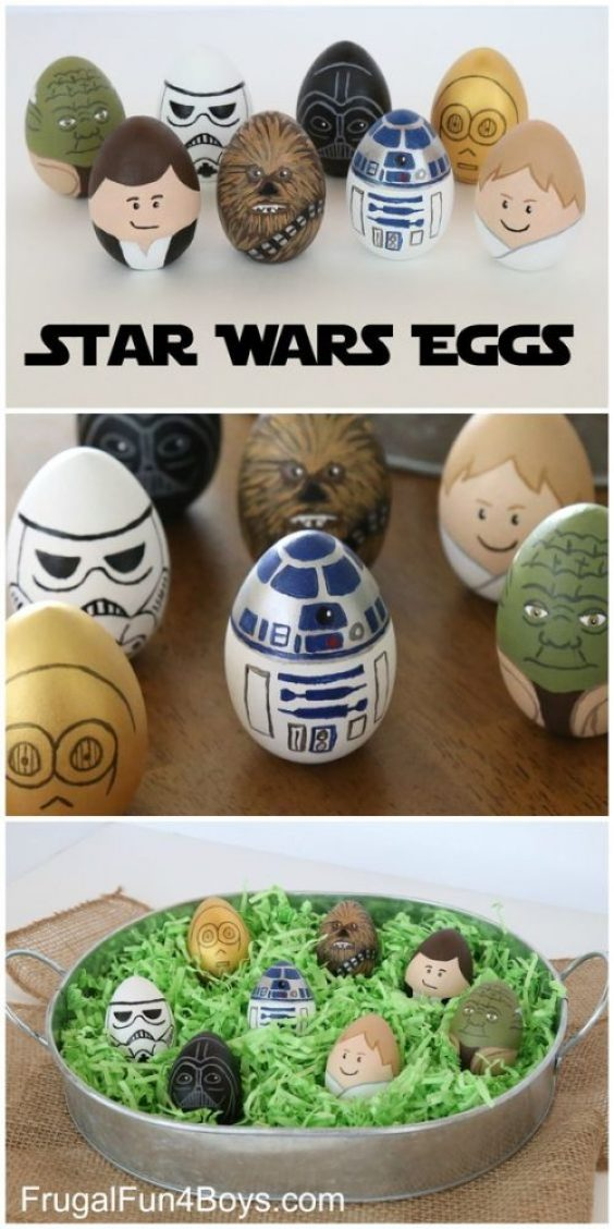 fun ways to dye easter eggs, star wars