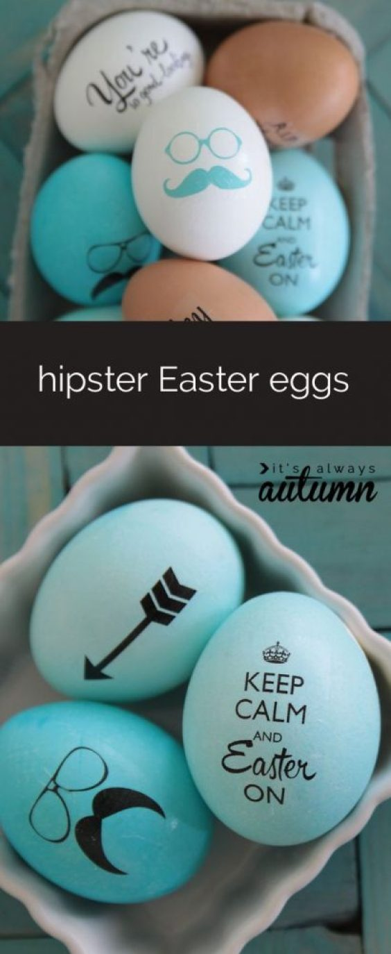 fun ways to dye easter eggs, hipster