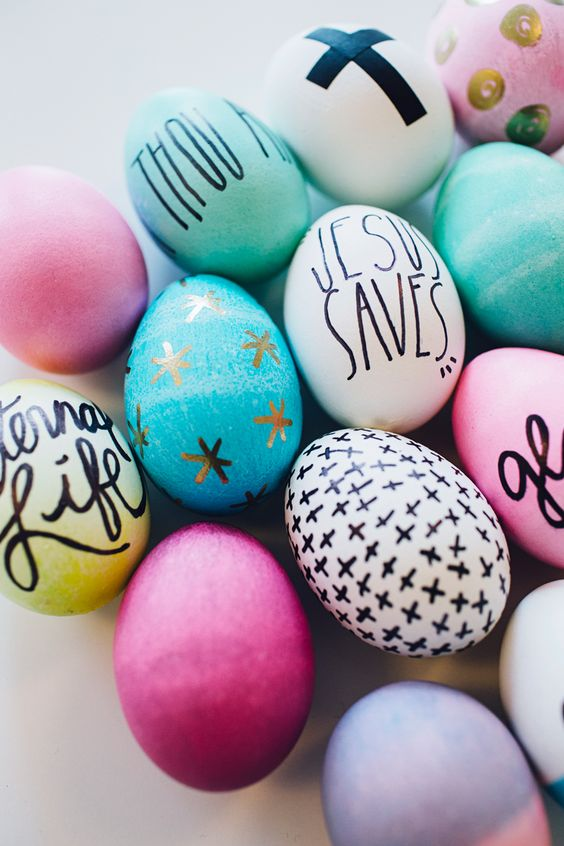 fun ways to dye easter eggs, inspirational