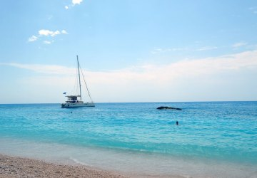 most popular beach in Lefkada island, Greece 11
