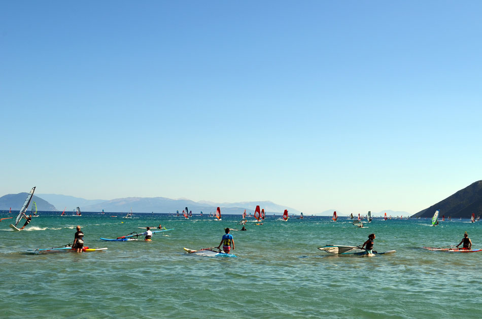 the most popular windsurfing spot in Greece, Vassiliki beach 4