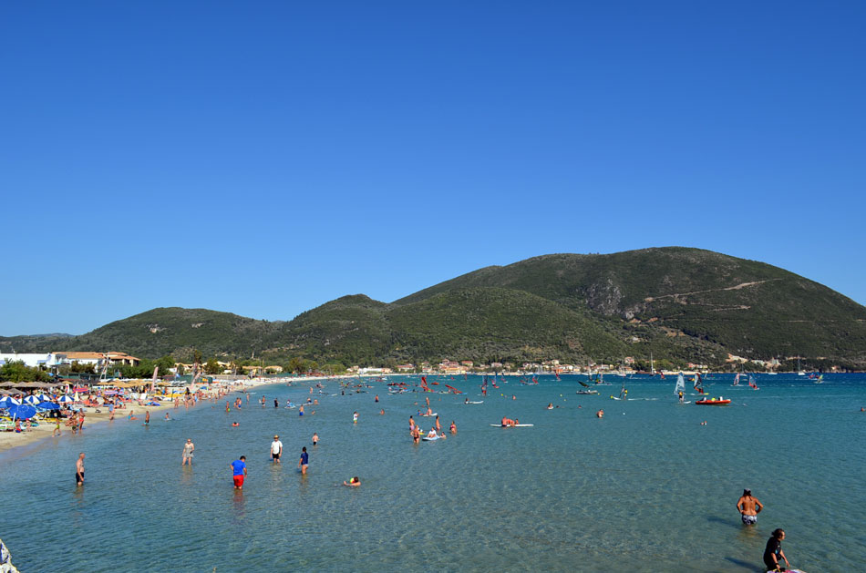 the most popular windsurfing spot in Greece, Vassiliki beach 7