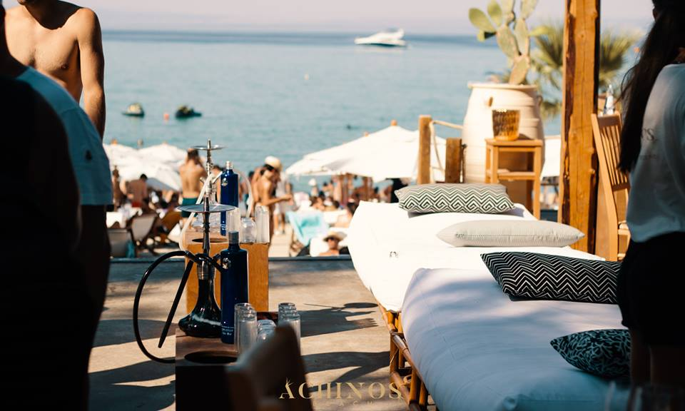 luxury beach bar in Halkidiki, Achinos 7