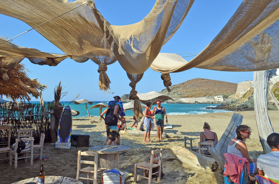 the best beach bar in Greece, Tinos 11